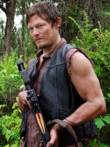 Daryl.  A fan favorite from The Walking Dead television show, who actually wasn't in the comic books (photo from AMC)